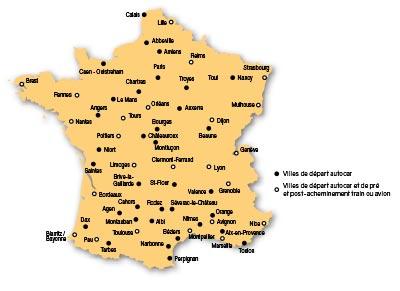 carte de départs CLC