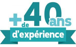 40 ans d'expérience