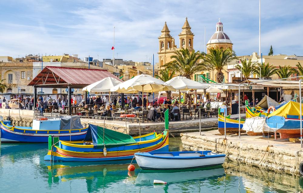 Séjour linguistique à Malte - Port de Marsaxlokk