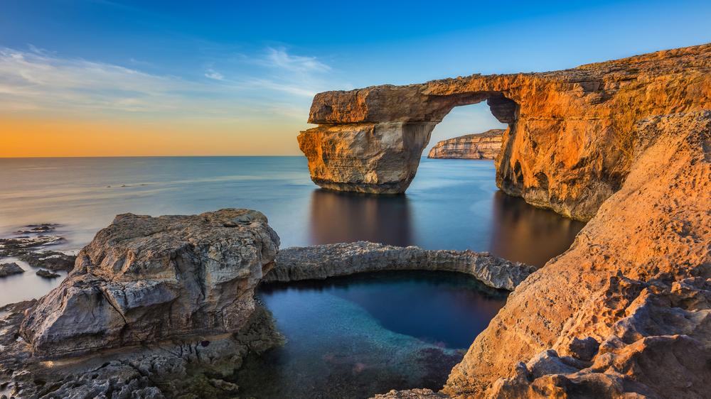 Séjour linguistique à Malte - Ile de Gozo, fenêtre azur