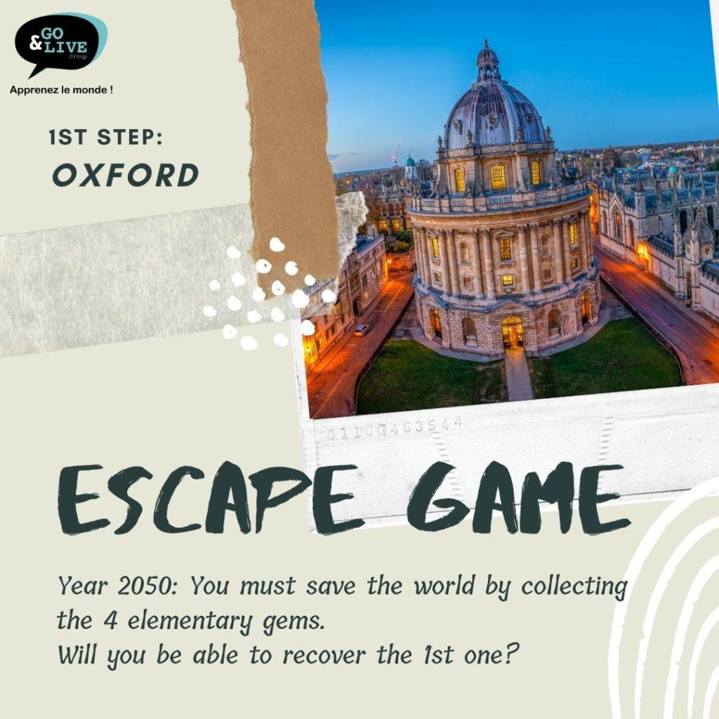 Escape game gratuit en ligne en anglais Go&Live